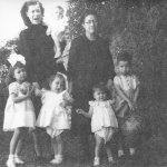 Grandma Luz, great grandmother Julia with Uncle Robert, Edna, Lulu, Chester, Sylvia (fetus) & mom