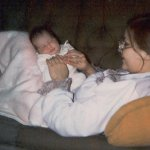 me & mom, newborn